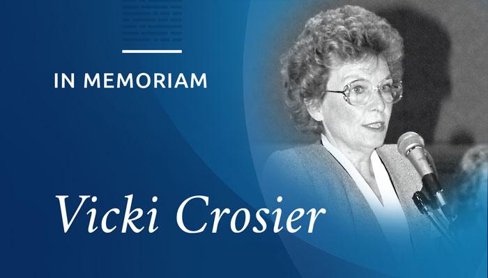 In Memoriam: Vicki Crosier
