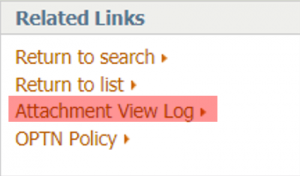 OPTN policy link image