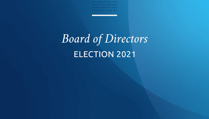 Voting opens Jan. 13, 2021, for Board election/Annual meeting of members