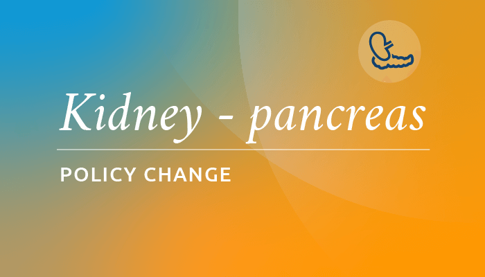 March 15 policy implementation: Removal of DSA from kidney and pancreas allocation