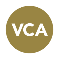 brown-green circle with letters VCA