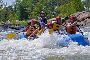 James River rapids