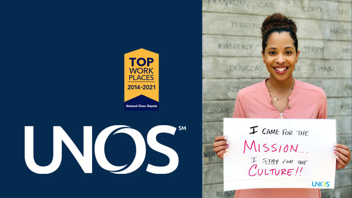 UNOS named top workplace for 8th consecutive year by Richmond Times-Dispatch