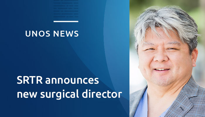 Ryutaro Hirose, M.D., to join SRTR as surgical director