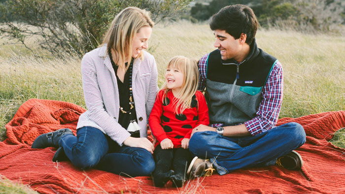 Omar, liver recipient, with his wife and daughter