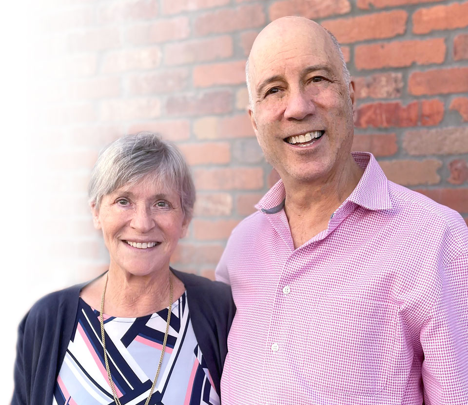 Ted Gordon and his wife smiling