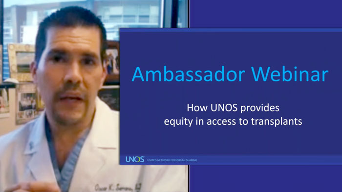 Oscar Serrano, M.D., on reducing disparities in access to transplant