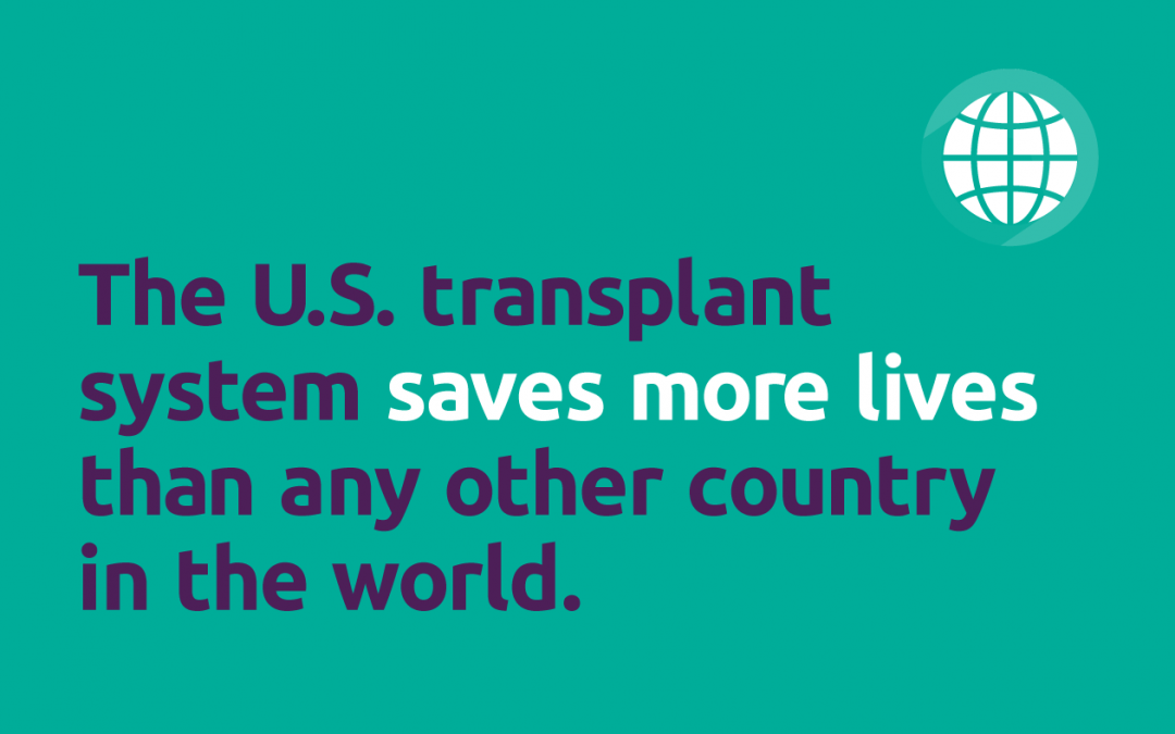 U.S. leads world in rates of deceased donors, key transplant categories