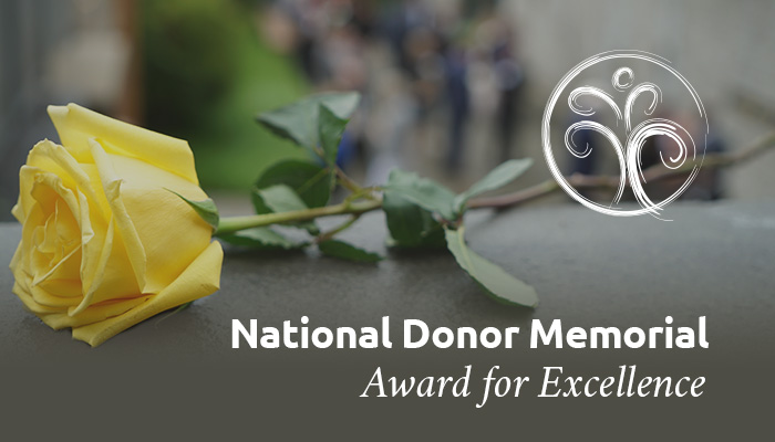 2020 National Donor Memorial Award for Excellence call for nominations open through March 19
