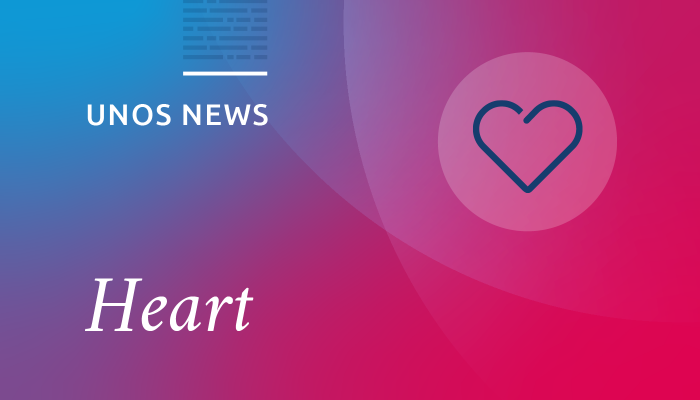 UNOS news, heart