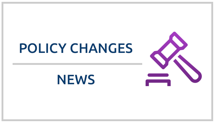 Stay up to date on recent policy changes