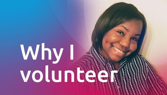 Why I volunteer: Precious McCowan