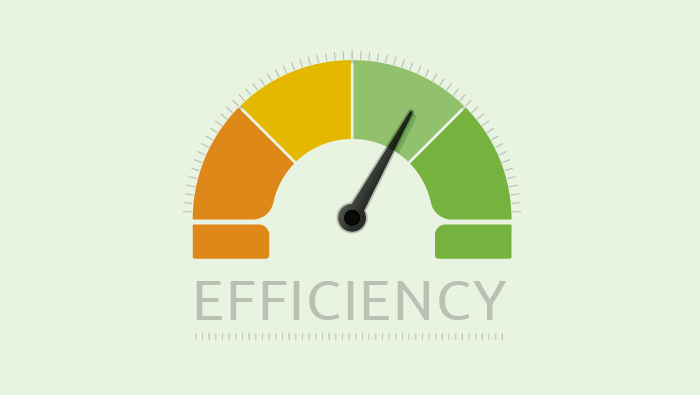 Efficiency gauge illustration