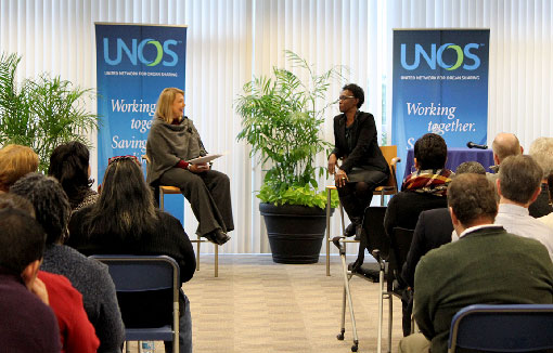 Dr. Velma Scantlebury-White sharing with UNOS employees at the Richmond headquarters