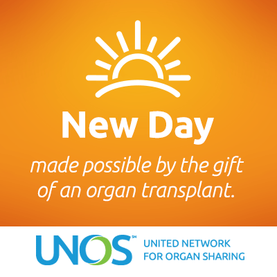New day made possible by the gift of an organ transplant