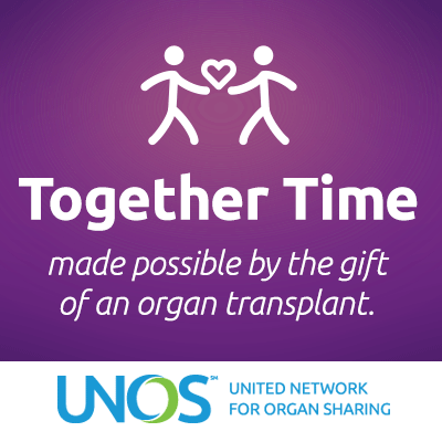 Together time made possible by the gift of an organ transplant